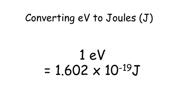 What is the difference between the joule and the electron