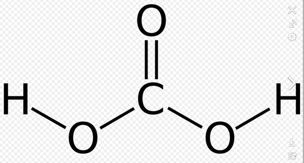 What is acid formed from water mixing with carbon dioxide
