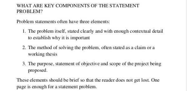What Is A Problematic Statement In Research Proposal? Quora