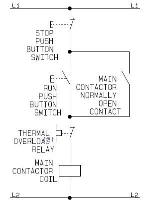 Simple Start Stop Motor Control Diagram