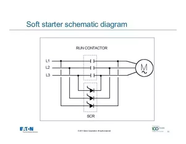 soft starter wiring diagram bremas drum switch how electronic better than star delta for a decreases the voltage on start using solid state electronics they typically include thyristors diodes and scrs