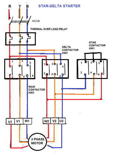 wye delta motor starter wiring diagram 110cc chinese atv what are the components required for star manual and automatic operation ...