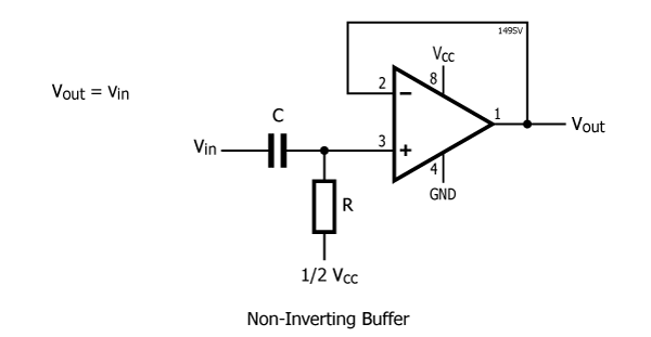 circuit diagram of non inverting amplifier garage lighting wiring uk how does a can be converted into voltage it to follower by providing 100 negative feedback with the input connected via resistance ground