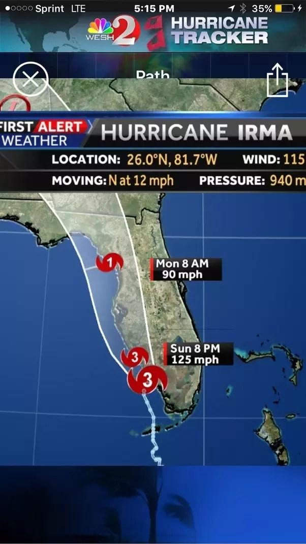 Path Of Hurricane Irma Map : hurricane, Hurricane, Irma?, Feeling?, Quora