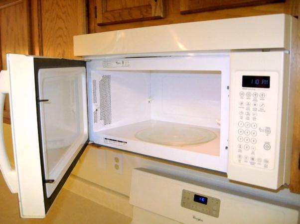 left the microwave door open