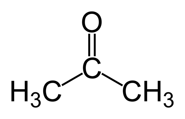 What makes acetone a really good solvent? What allows it