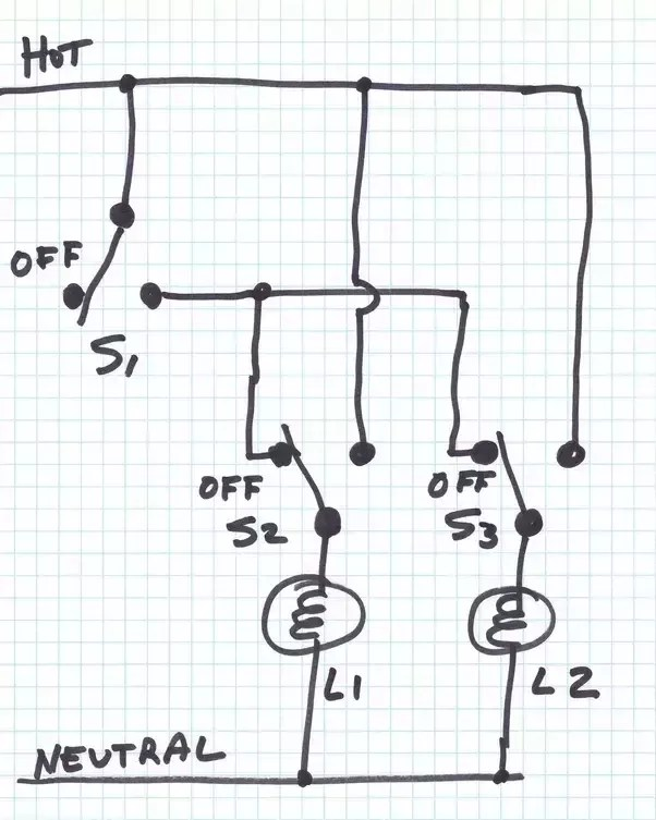 house master switch wiring diagram 6pin to 8pin adapter how wire a home quora this circuit maybe doesn t do exactly what you want but may be of interest use three 3 way switches