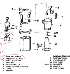 diagram of the fuel pump sensor [ 1021 x 865 Pixel ]