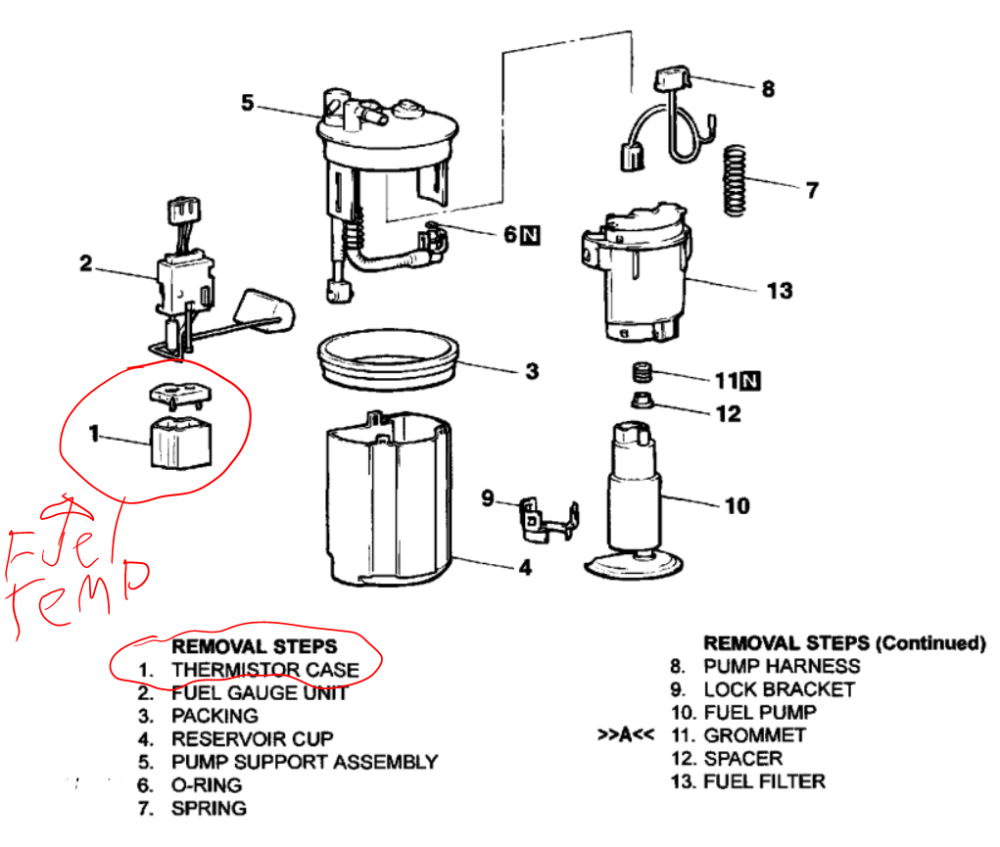medium resolution of diagram of the fuel pump sensor