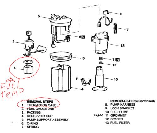 small resolution of diagram of the fuel pump sensor