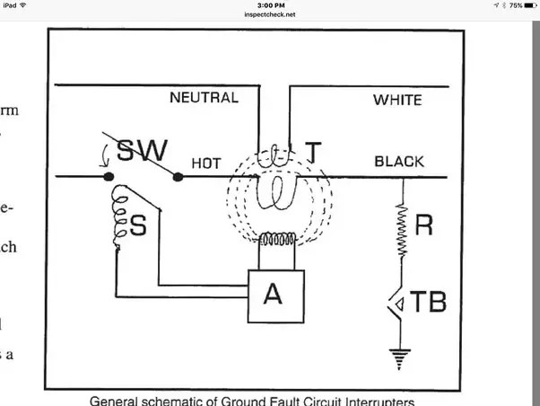 ground fault wiring diagram thermodisc 59t what is the schematic of a gfci quora current flow through primary and secondary windings t top will either be 0 if there no