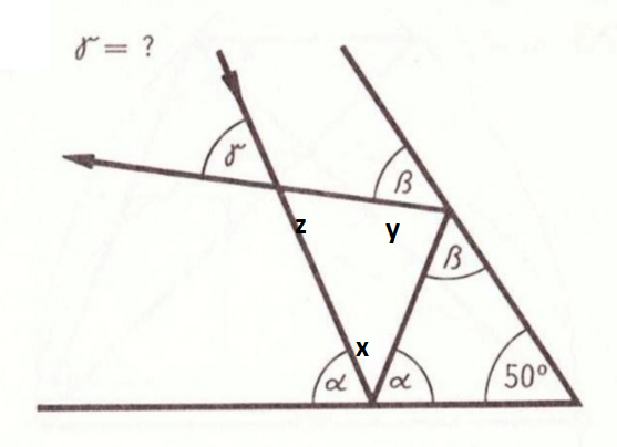 How to calculate value of angle [math]\gamma[/math] when I