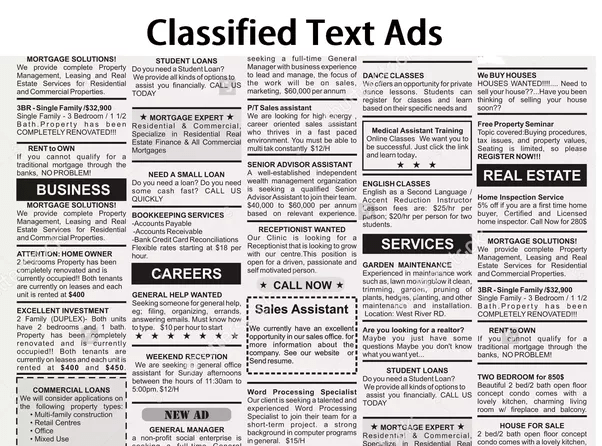 What Is The Easiest Process Of Booking Classified Text Ad