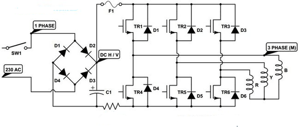 How to make a 380V three-phase equipment work on a 220V