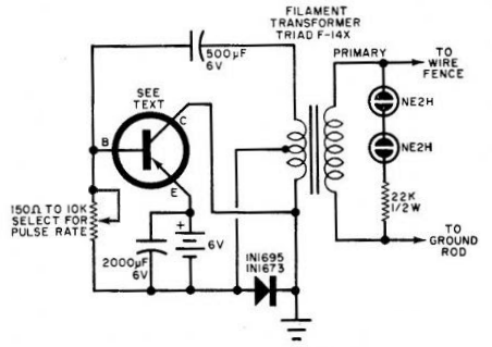 What is an electric fence energizer with a circuit diagram