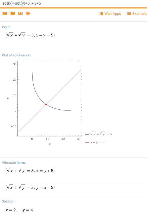 The sum of two square roots of two positive integers is 5