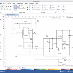Free Circuit Diagram Drawing Software Mains Powered Smoke Alarm Wiring Uk What Is A For Electrical Circuits On Windows Which Available Mac And Linux You Can Use It As Solid Visio Alternative Yet With Much