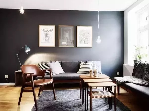 dark grey flooring living room accent chair what color wood goes best with a quora brings depth to the use walnut light walls oak or pine some pics for your inspiration