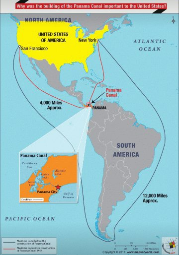 Panama Canal On World Map : panama, canal, world, Which, Oceans, Panama, Canal, Connect?, Quora