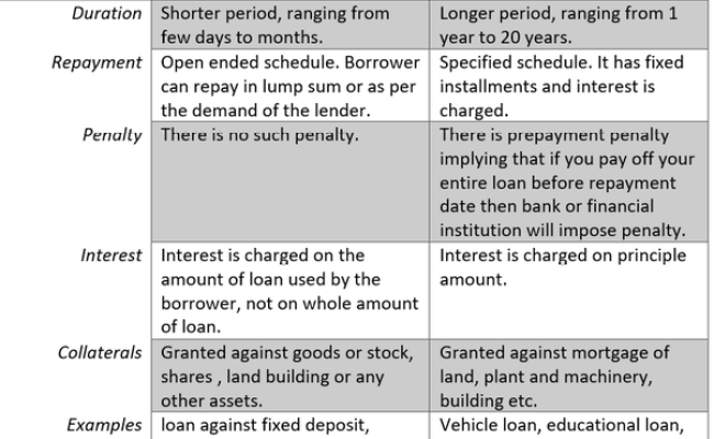 What Are The Actual Diference Between A Demand Loan And A