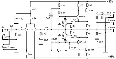 Can somone suggest me a power amplifier circuit using BD