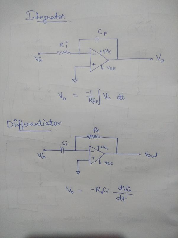 Integrator Circuit Using Opamp