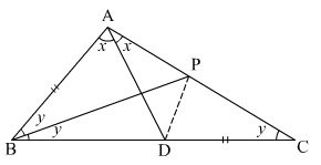 In a triangle ABC, angle B is twice angle C. AD bisects