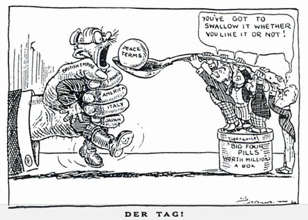 What are some of the Treaty of Versailles provisions that