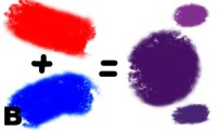 What color does blue and red make? - Quora