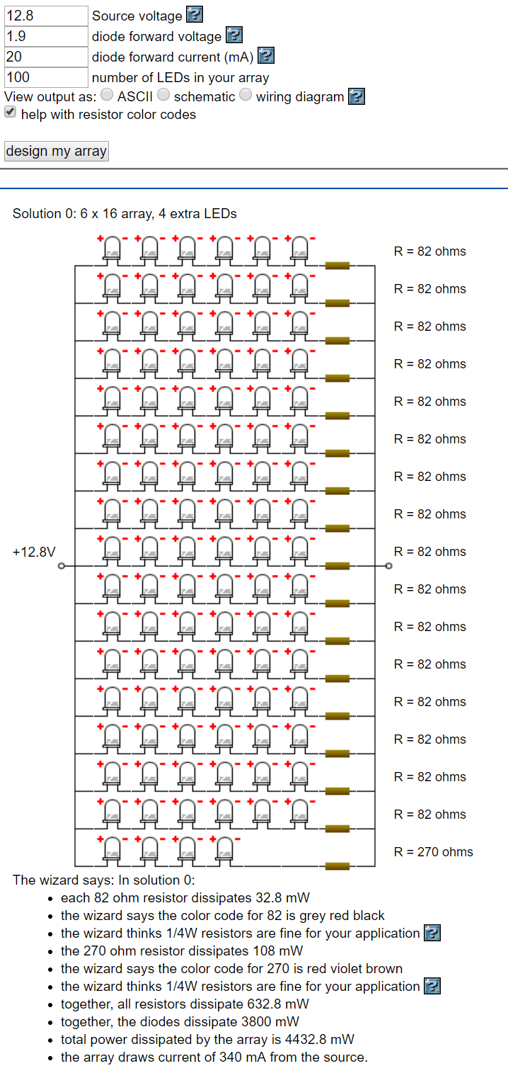 hight resolution of however if you want to have the calculations done for then use led series parallel array