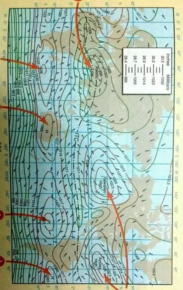 Isobars Are Lines On A Weather Map Representing What? : isobars, lines, weather, representing, what?, Close, Spacing, Isobars, Indicate, Meteorology?, Quora