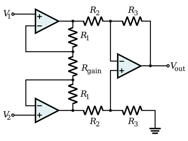 lmc6062 instrumentation amplifier circuit diagram