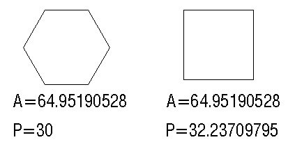 When both of the areas of a regular hexagon and a square