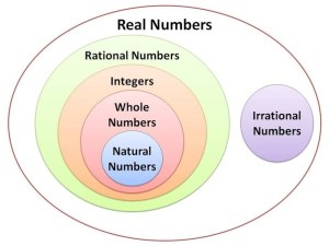 What are the different types of numbers in mathematics