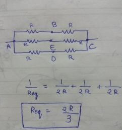 applying the formula for parallel resistors we get the equivalent resistance of the circuit as 2r 3  [ 3456 x 4608 Pixel ]