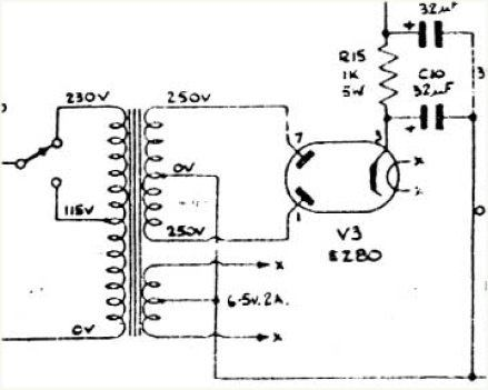 What happens in a EZ80 (6v4) rectifier tube? Does the