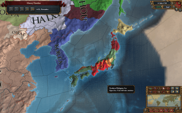 In EU4 is it possible to unite Japan before 1500  Quora