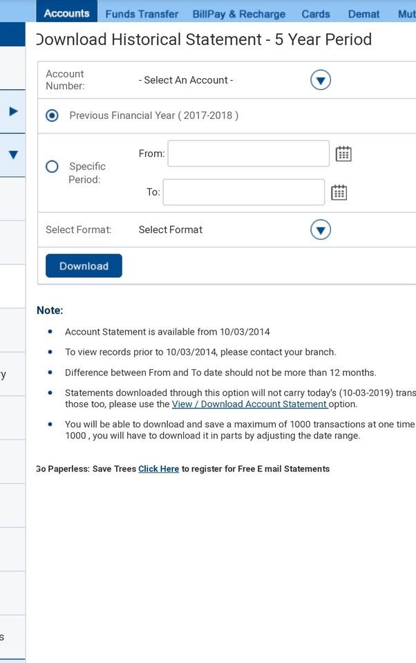 What Is The Procedure To Take Online Ppf Account Statement In Hdfc Bank Quora