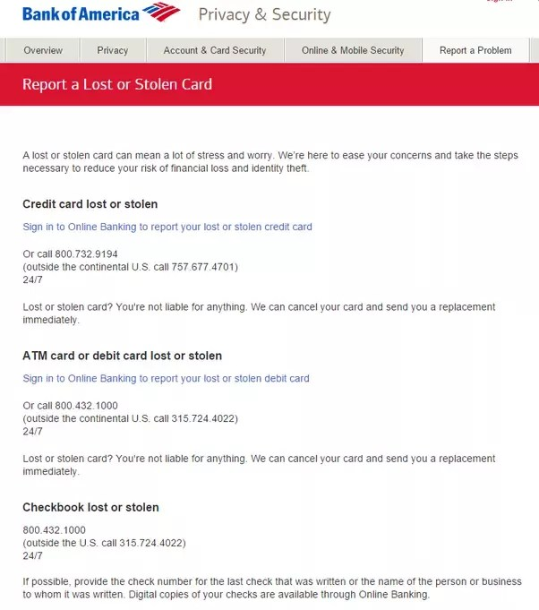 What Should I Do If I Lose My Bank Of America Credit Card Quora