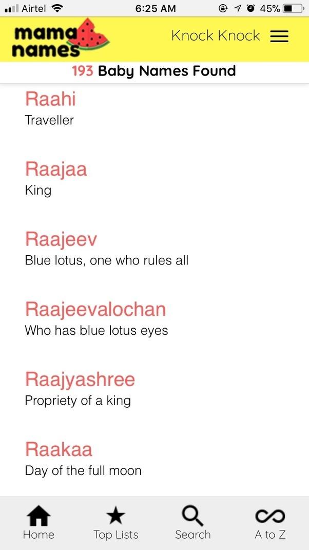 8b6f84a8a18 Indian Boy Names Starting R