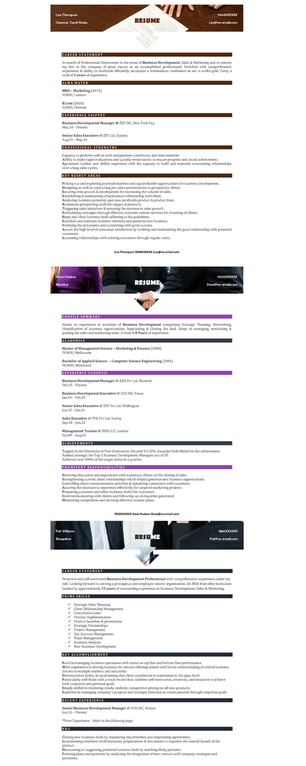 Download Ats Friendly Resume Templates Based On Psycho-Emotional Technique