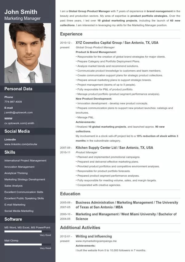 creative resume maker online free word format
