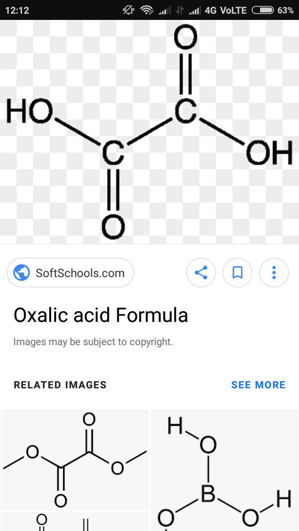 Oxalic acid is a saturated, but why give it unsaturation