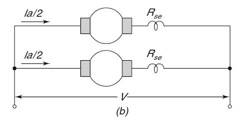 When two DC series motors are connected in a parallel,what
