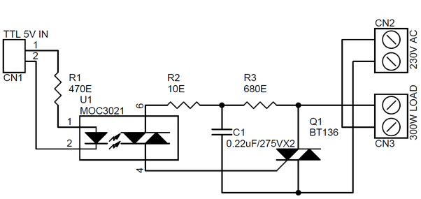 Can a transistor work as a switch for high AC voltage (220