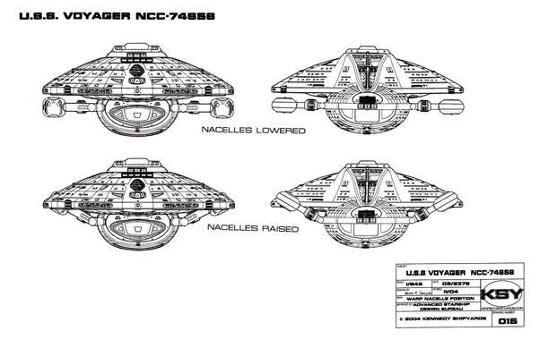 Why does Star Trek's Voyager fold its wings up when it