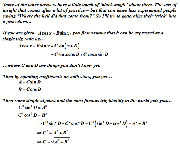 How to solve this, √3cosx+sinx=2 - Quora
