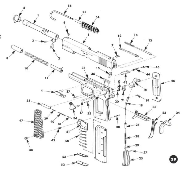 glock 22 exploded diagram of lymph nodes in groin do plastic and metal guns have the same maintenance quora below is an view a 1911