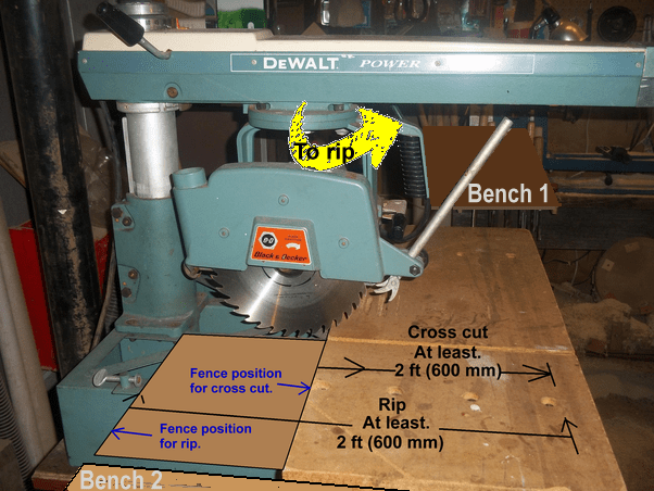 Radial Arm Saw Fence