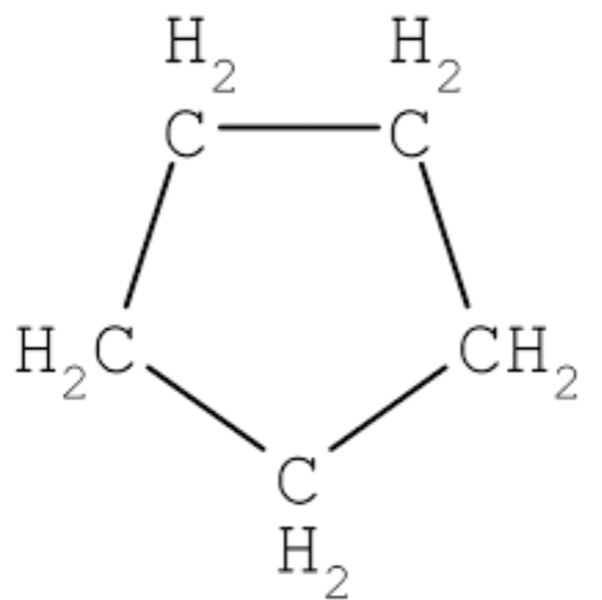 What is the name and structure of a saturated compound in